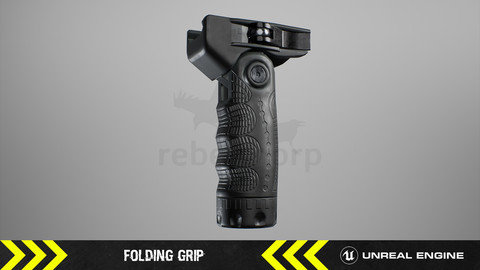 Folding Grip - FPS Weapon Attachment [ Unreal Engine ]