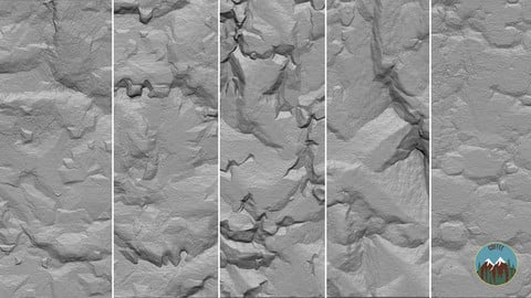 10 Cliffs Alphas (4k, 16 bit)