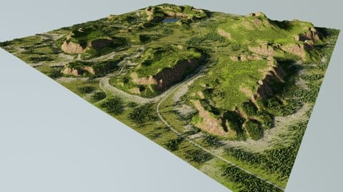 Map002 - lowland in Blender