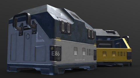 Sci-fi Loot Crate PBR low-poly Game Prop 3D model