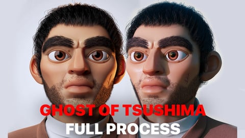Ghost of Tsushima 3D Cartoon Creation Process