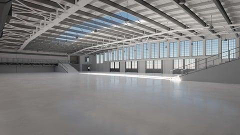 Industrial Hangar Hall Interior 5