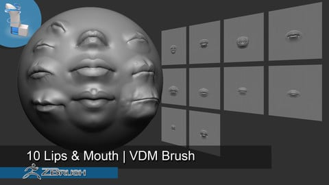 10 Lips and Mouth |  VDM Brush - Zbrush