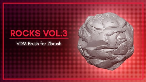 [VDM Brush] Rocks Brush Vol.3 for Zbrush 2020