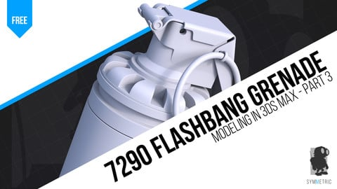 Model a Flashbang Grenade in 3ds Max - Part 3 | Hard Surface Modeling Tutorial