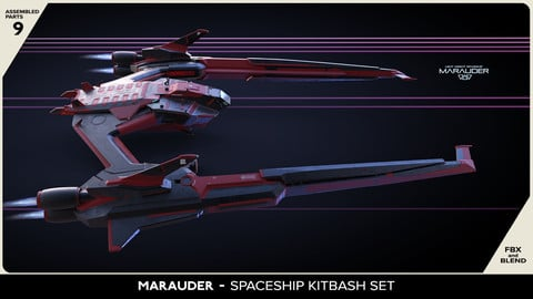 MARAUDER - Spaceship Kitbash Set