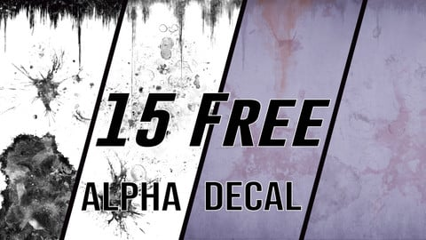 15 Free Alphas + UE4 Decals Pack