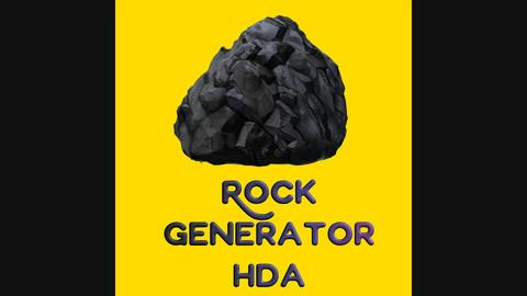 Procedural rock generator asset