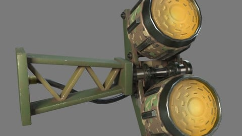 Military Lamp 11 - Low Poly