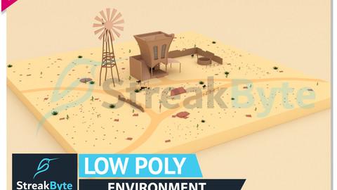 Low Poly Desert Environment