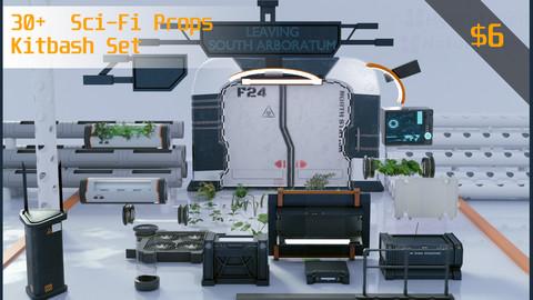30+ Sci-Fi Props Kitbash set