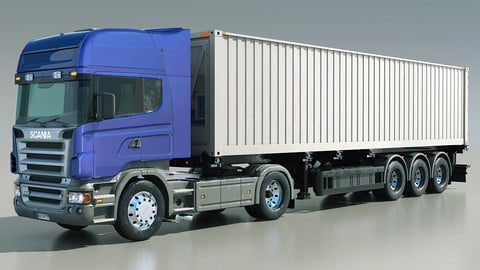 Scania truck R580 With Container Refrigerator