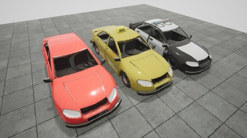 Low-Poly Game Ready Cars pack