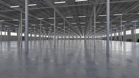 Industrial Warehouse Interior 5b