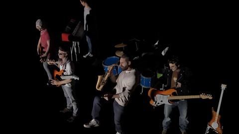 Rock Band 3D Model