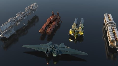 Sci Fi Spaceships Pack Vol. 1
