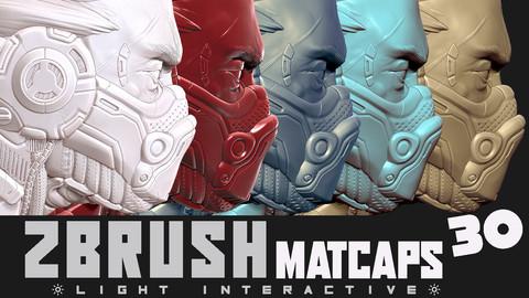 Zbrush Matcaps 30  (materials)