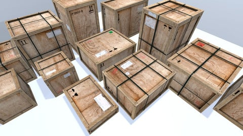 Old Wooden Cargo Crates
