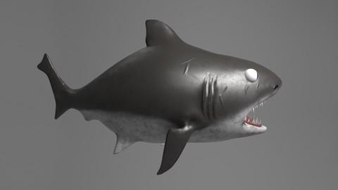 Stylized Cutesy Shark