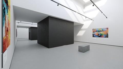 VR Ready Art Gallery 2020 4k Corona Max Scene