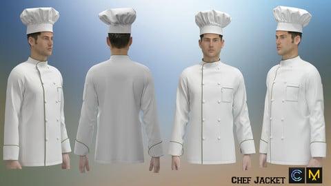 Chef Jacket, Marvelous designer, Clo3d