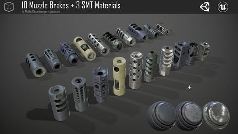 10 Muzzle Brakes + 3 Smart Materials