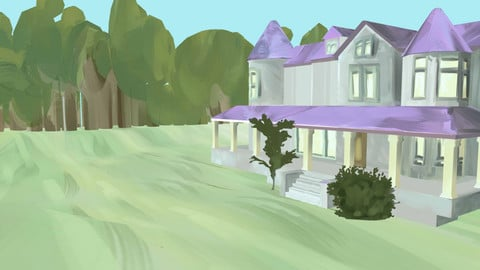 Painted Mansion Environment Exterior