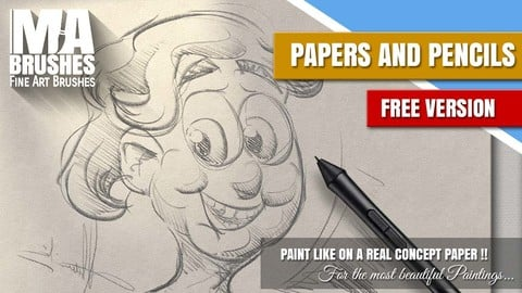 MA-Brushes REAL Papers & Pencils ++ FREE Brush Pack (Painting Brushes)