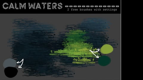 CALM WATERS *free PS brushes