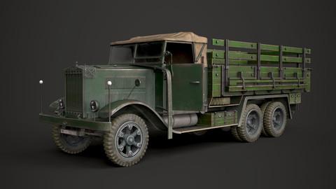 WW2 German Krupp L3H163 Truck