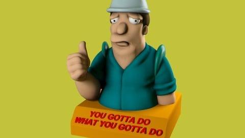 Futurama poster mascot 3D print model