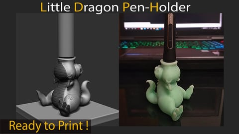 Little Dragon Pen-Holder