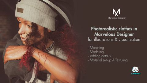 Photorealistic clothes in Marvelous Designer for illustration