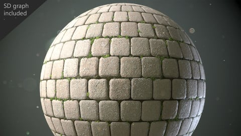 Cobblestones with the Substance Designer Graph included