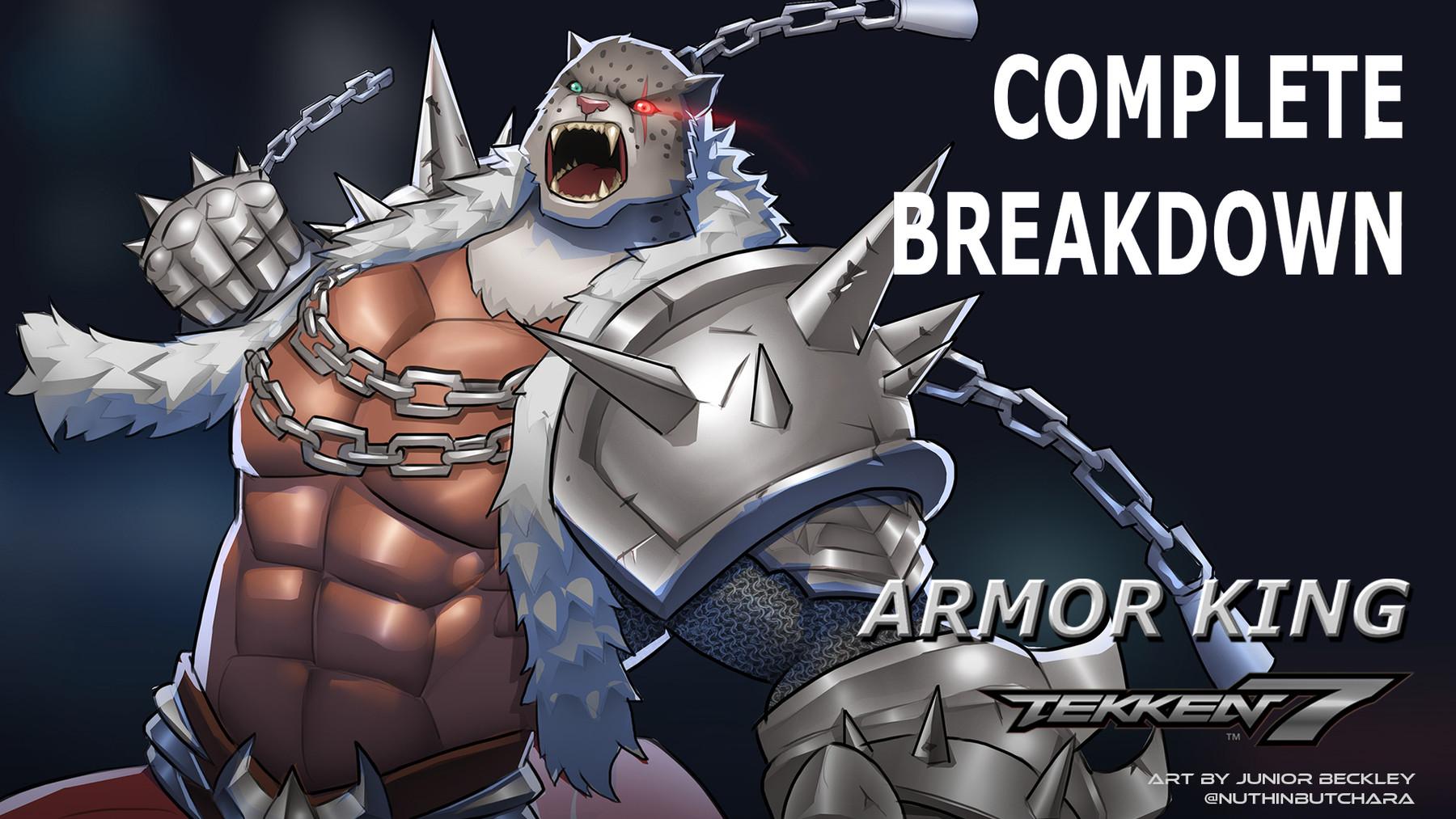 Artstation Complete Breakdown 04 Tekken 7 Armor King Fanart