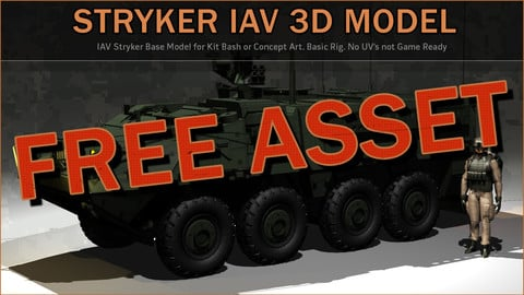 Stryker IAV 3D Model