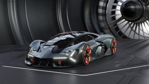 Lamborghini Terzo Millennio 3D Model
