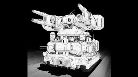 LAYERED PSD File of Graphic Novel Stylization For Vehicle Illustration 02