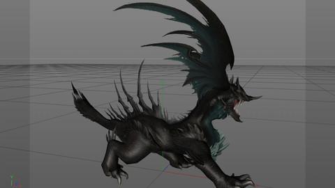 Monster leader game role model