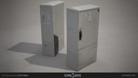ElectricalBox Photogrammetry Asset PhotoScan