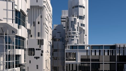 Futuristic Sci-Fi Skyscrapers 002