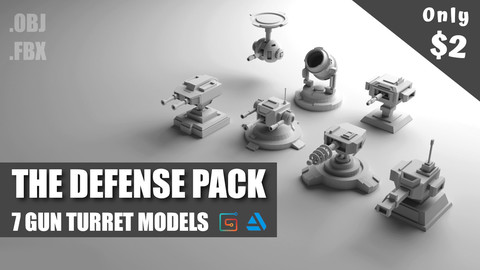 7 Gun Turret Models | The Defense Pack