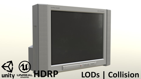 2000s CRT TV Gray