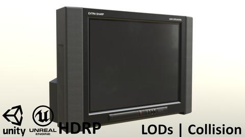 2000s CRT TV Black