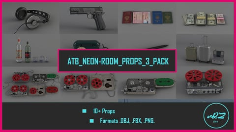 ATB NeonRoom Props 3 PACK