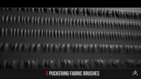 5 Puckering Fabric Brushes