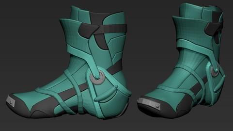 Sky-Fi Shoes2  Basemesh