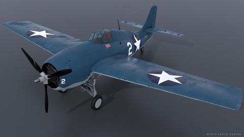 GRUMMAN F4F-3 WILDCAT VMF-222