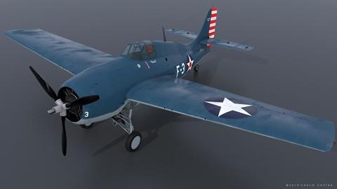 GRUMMAN F4F-3 WILDCAT F3 -Butch-