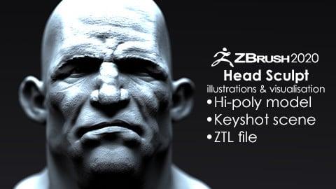 Stylized Male Head Bust #2